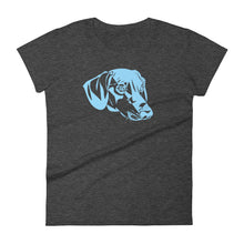 Load image into Gallery viewer, Dachshund Blue - Women's T-shirt - WeeShopyDog