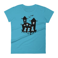 Load image into Gallery viewer, Dogs Halloween Castle - Women's T-shirt - WeeShopyDog
