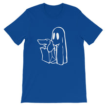 Load image into Gallery viewer, Dachshund Halloween Boo - Unisex/Men's T-shirt - WeeShopyDog