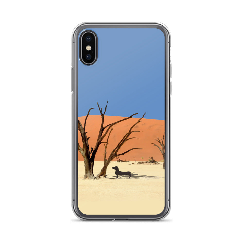 Dachshund Namibia View - iPhone Case - WeeShopyDog