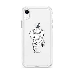 Dachshund Play - iPhone Case