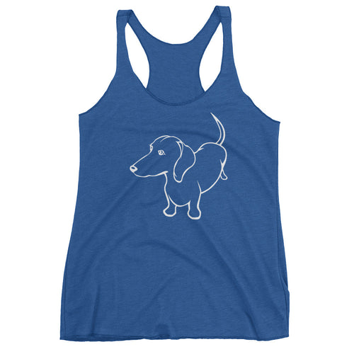 Dachshund Up - Women's Tank Top - WeeShopyDog