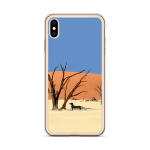 Dachshund Namibia View - iPhone Case