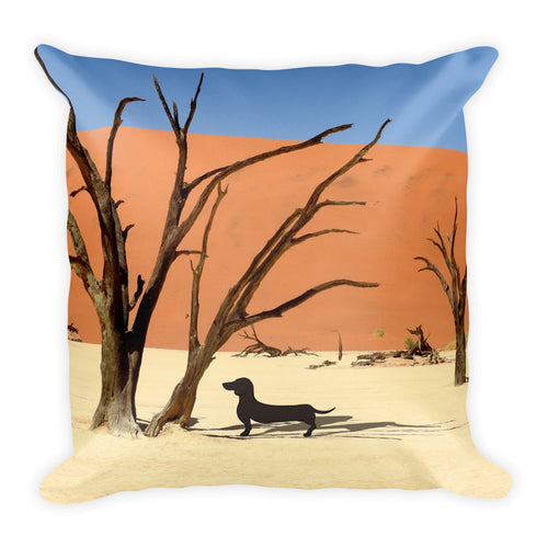 Dachshund Namibia View - Square Pillow - WeeShopyDog