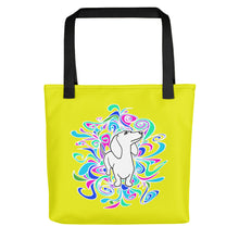 Load image into Gallery viewer, Dachshund Flower Color - Color Tote Bag - WeeShopyDog