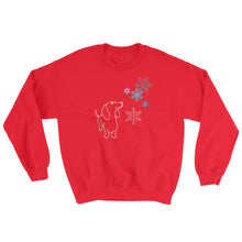 Load image into Gallery viewer, Dachshund Snowflakes - Sweatshirt - WeeShopyDog