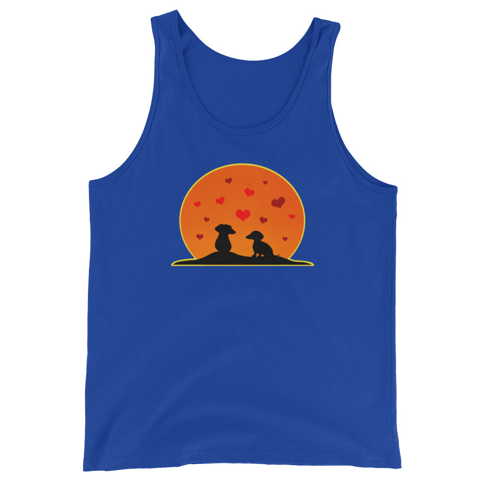 Dachshund In Love - Unisex/Men's Tank Top - WeeShopyDog