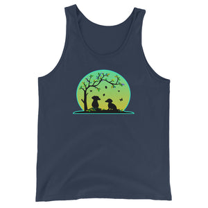 Dachshund Tree Of Life - Unisex/Men's Tank Top - WeeShopyDog
