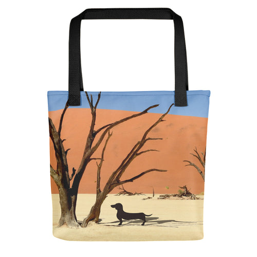 Dachshund Namibia View - Color Tote bag - WeeShopyDog