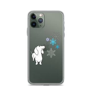 Dachshund Snowflakes - iPhone Case