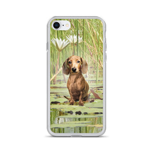 Dachshund Lotus - iPhone Case - WeeShopyDog