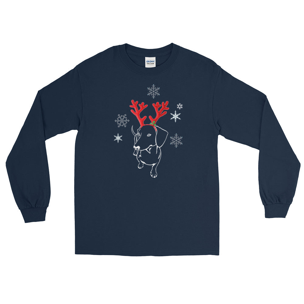 Dachshund Christmas Moose - Long Sleeve T-Shirt - WeeShopyDog