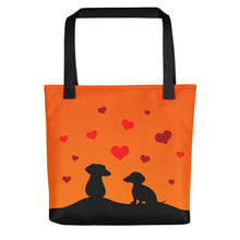 Dachshund In Love - Color Tote Bag - WeeShopyDog