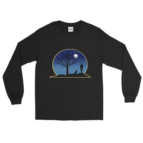 Dachshund Moon - Long Sleeve T-Shirt - WeeShopyDog