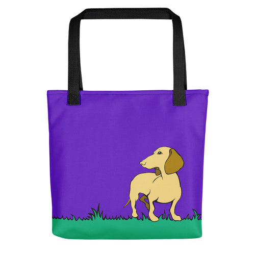 Dachshund Beauty Grass - Color Tote bag - WeeShopyDog