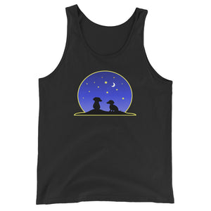 Dachshund Night Love - Unisex/Men's Tank Top - WeeShopyDog