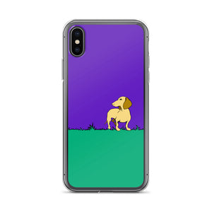 Dachshund Beauty Grass - iPhone Case - WeeShopyDog