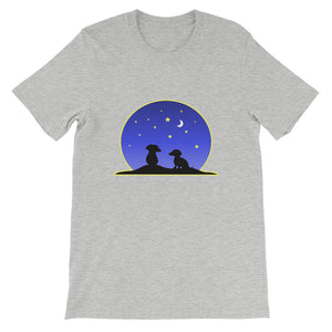 Dachshund Night Love - Unisex/Men's T-shirt - WeeShopyDog
