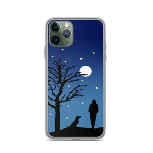 Dachshund Moon - iPhone Case
