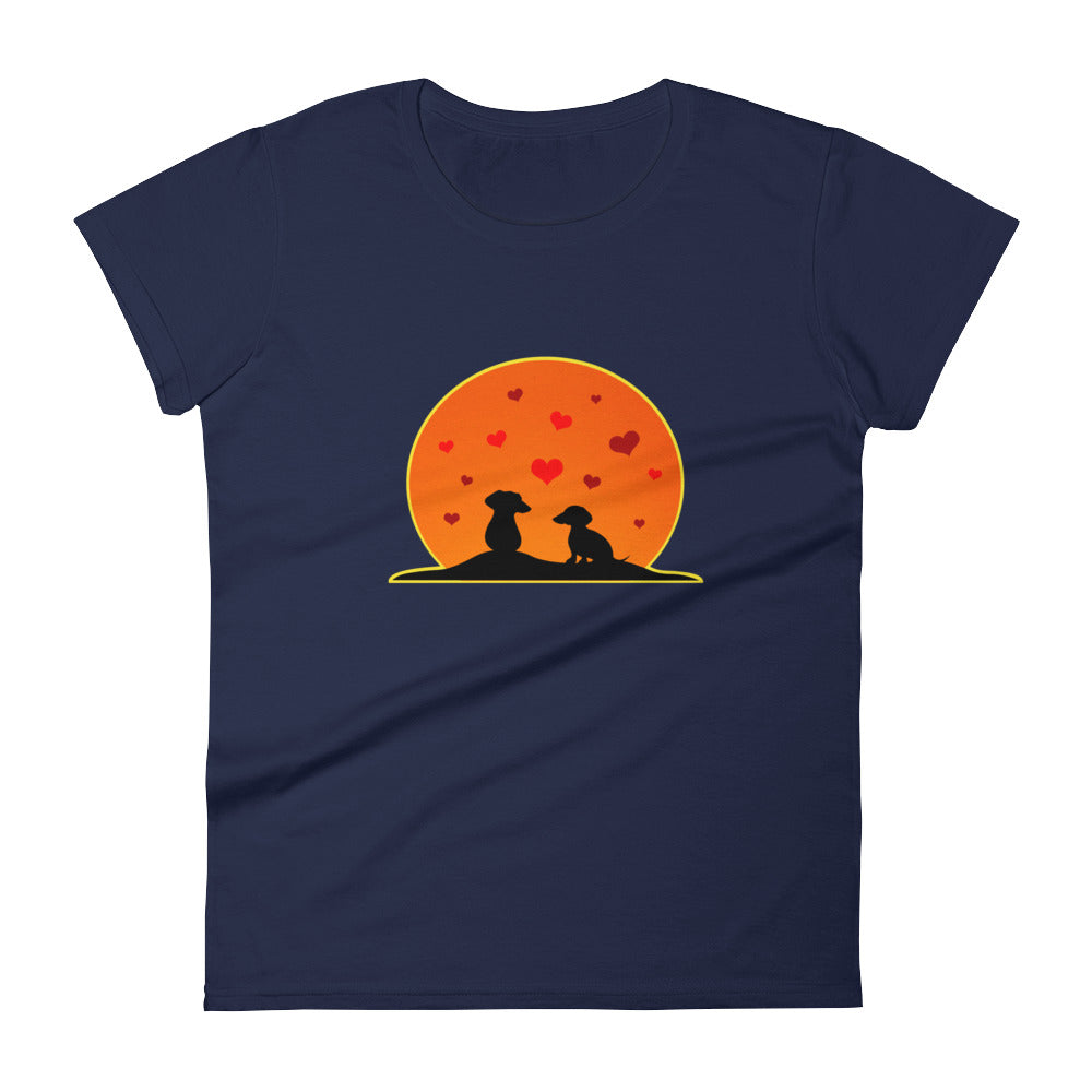 Dachshund In Love - Women's T-shirt - WeeShopyDog