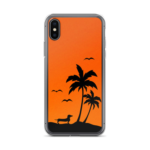 Dachshund Palm Tree - iPhone Case - WeeShopyDog