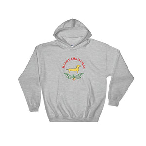 Dachshund Merry Christmas II - Hooded Sweatshirt - WeeShopyDog