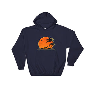 Dachshund Palm Tree - Hooded Sweatshirt - WeeShopyDog