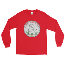Load image into Gallery viewer, Dachshund Merry Christmas - Long Sleeve T-Shirt - WeeShopyDog