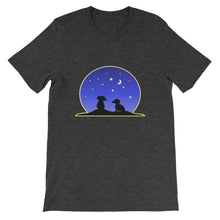 Load image into Gallery viewer, Dachshund Night Love - Unisex/Men's T-shirt - WeeShopyDog