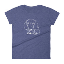 Load image into Gallery viewer, Dachshund Paws - Women's T-shirt - WeeShopyDog
