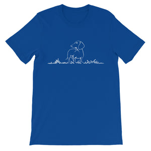 Dachshund Beauty Grass - Unisex/Men's T-shirt - WeeShopyDog