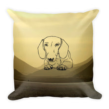 Load image into Gallery viewer, Dachshund Paw Desert - Square Pillow - WeeShopyDog