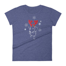 Load image into Gallery viewer, Dachshund Christmas Moose - Women's T-shirt - WeeShopyDog