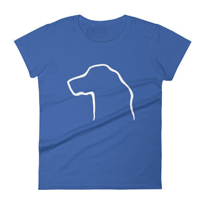 Golden Retriever Outline - Women's T-shirt - WeeShopyDog
