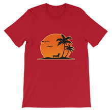 Dachshund Palm Tree - Unisex/Men's T-shirt - WeeShopyDog