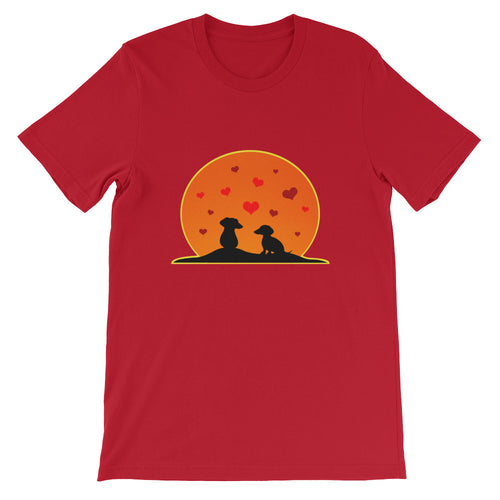 Dachshund In Love - Unisex/Men's T-shirt - WeeShopyDog