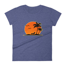 Load image into Gallery viewer, Dachshund Palm Tree - Women's T-shirt - WeeShopyDog