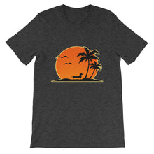 Load image into Gallery viewer, Dachshund Palm Tree - Unisex/Men's T-shirt - WeeShopyDog