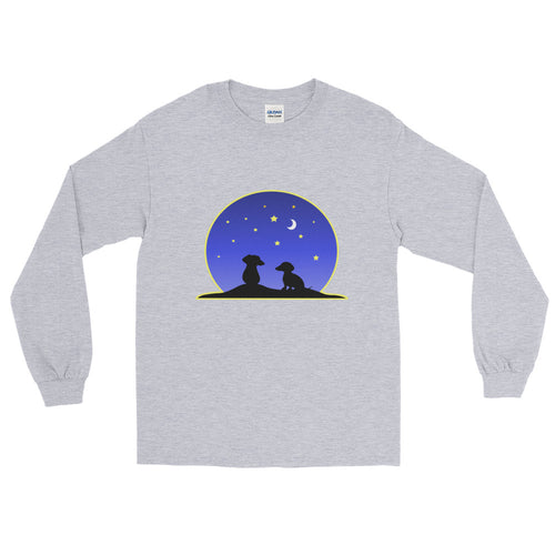 Dachshund Night Love - Long Sleeve T-Shirt - WeeShopyDog
