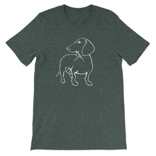 Load image into Gallery viewer, Dachshund Beauty - Unisex/Men's T-shirt - WeeShopyDog