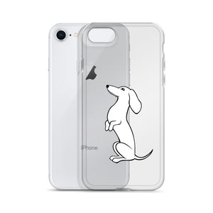 Dachshund Sit-up - iPhone Case