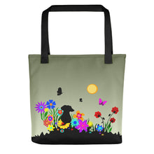 Load image into Gallery viewer, Dachshund Blossom - Color Tote Bag - WeeShopyDog