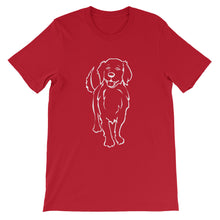 Load image into Gallery viewer, Golden Retriever Smile - Unisex/Men's T-shirt - WeeShopyDog
