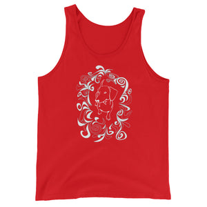 Dachshund Cute Flower - Unisex/Men's Tank Top - WeeShopyDog
