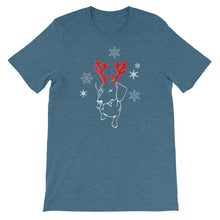 Load image into Gallery viewer, Dachshund Christmas Moose - Unisex/Men's T-shirt - WeeShopyDog
