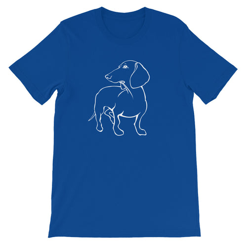 Dachshund Beauty - Unisex/Men's T-shirt - WeeShopyDog