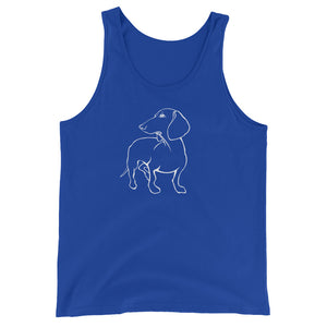Dachshund Beauty - Unisex/Men's Tank Top - WeeShopyDog