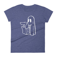 Load image into Gallery viewer, Dachshund Halloween Boo - Women's T-shirt - WeeShopyDog