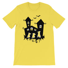 Load image into Gallery viewer, Dogs Halloween Castle - Unisex/Men's T-shirt - WeeShopyDog
