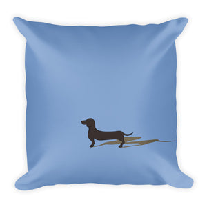 Dachshund Shadow - Square Pillow - WeeShopyDog